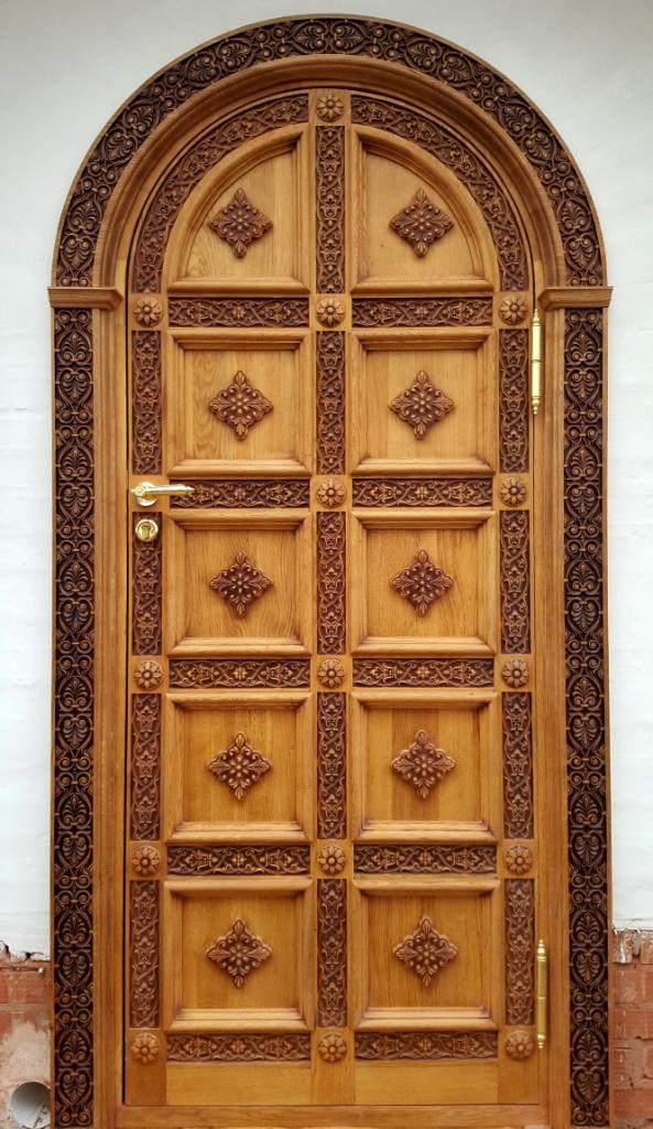 Дверь, дубовая дверь, храмовая дверь, парадная дверь, резной портал, изделия из дуба, церковная утварь, православие, христианство, убранство для храма, резьба, византийский орнамент, растительный орнамент, орнамент, 3d